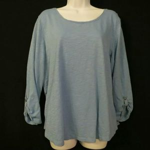 Chicos The Ultimate Tee Size 3 XL Light blue